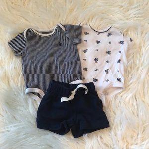 Ralph Lauren Onesies & Carter's Shorts
